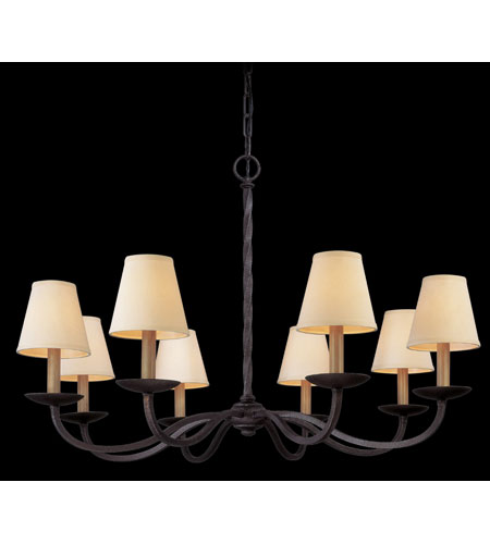 Troy Lighting Alexander 8 Light Chandelier in English Iron F2668 photo
