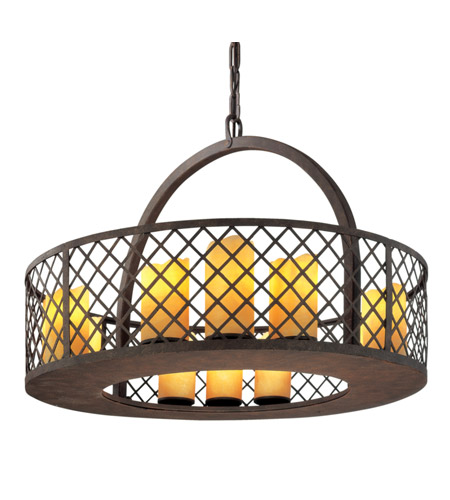 Troy Lighting Sienna 12 Light Pendant in Burnt Sienna F2684 photo