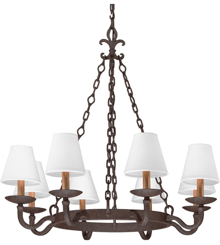 Troy Lighting F2715 Lyon 8 Light 33 inch Burnt Sienna Chandelier Ceiling Light  photo