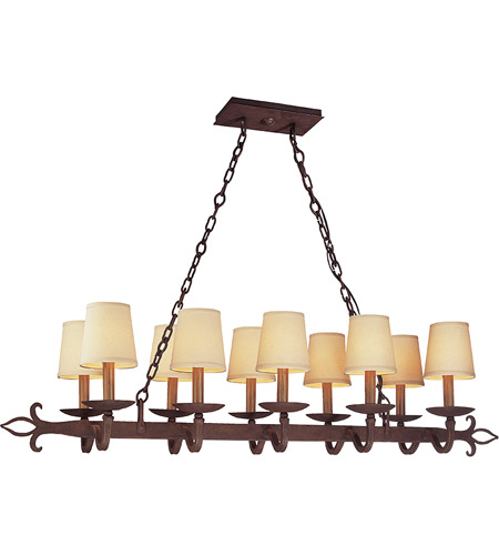 Troy Lighting F2718 Lyon 10 Light 47 inch Burnt Sienna Pendant Island Ceiling Light photo