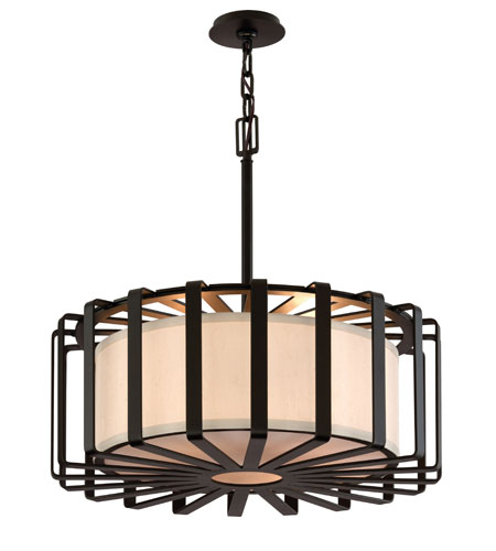 Troy Lighting Drum 4 Light Pendant Dining in Graphite F2816GR-I photo
