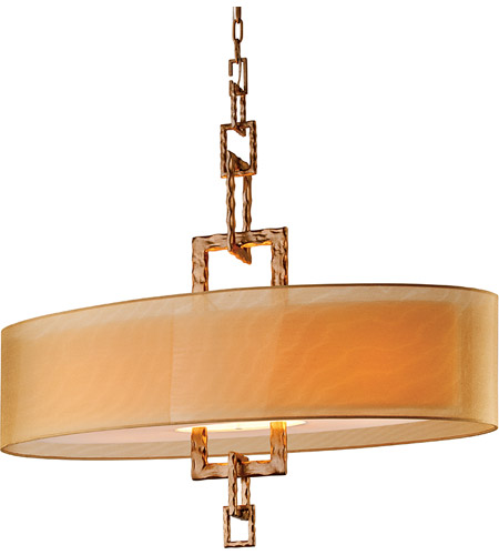 Troy Lighting F2878 Link 4 Light 42 inch Bronze Leaf Pendant Island Ceiling Light  photo