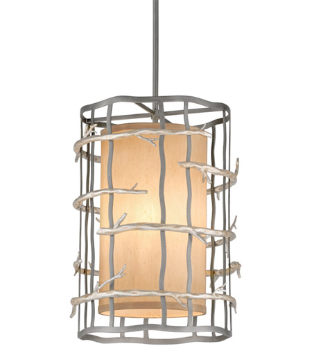 Troy Lighting F2883 Adirondack 3 Light 13 inch Graphite And Silver Pendant Entry Ceiling Light photo