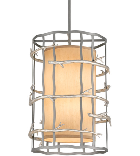 Troy Lighting F2884 Adirondack 6 Light 18 inch Graphite And Silver Pendant Entry Ceiling Light photo