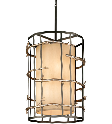 Troy Lighting F2885 Adirondack 6 Light 22 inch Graphite And Silver Pendant Entry Ceiling Light photo