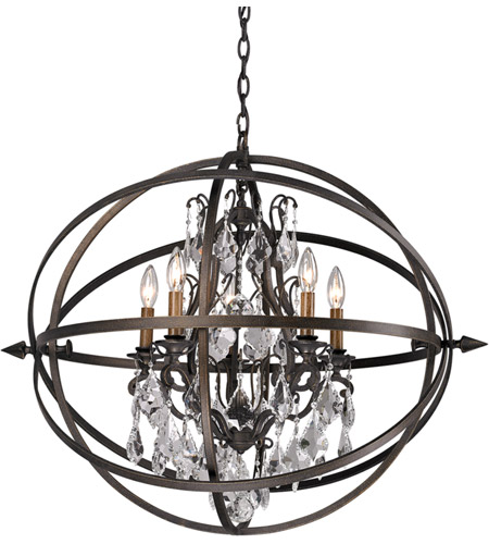 Troy Lighting F2996 Byron 5 Light 26 inch Vintage Bronze Pendant Ceiling Light photo