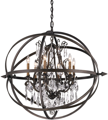 Troy Lighting F2997 Byron 6 Light 32 inch Vintage Bronze Pendant Ceiling Light  photo
