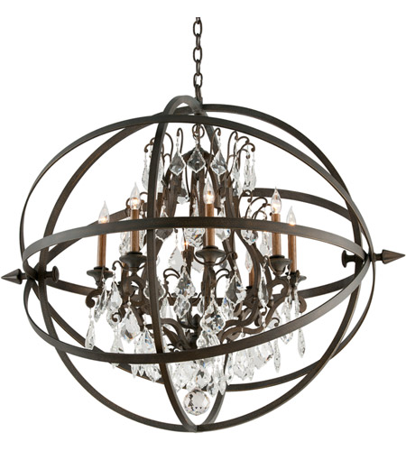 Troy Lighting F2998 Byron 8 Light 42 inch Vintage Bronze Pendant Ceiling Light photo