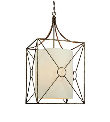 Maidstone 6 Light 22 Inch Bronze Leaf Pendant Ceiling