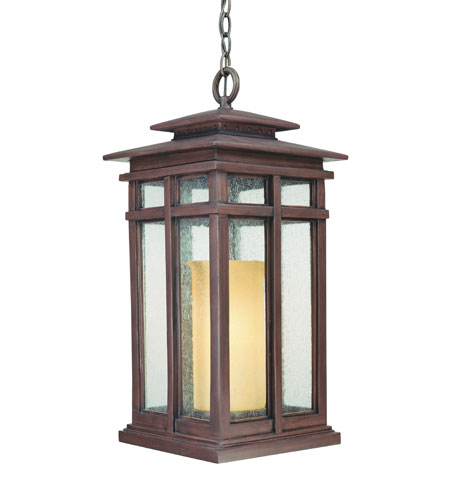 Troy Lighting Cottage Grove 1 Light Outdoor Hanging Lantern in Cottage Bronze F3087CB photo