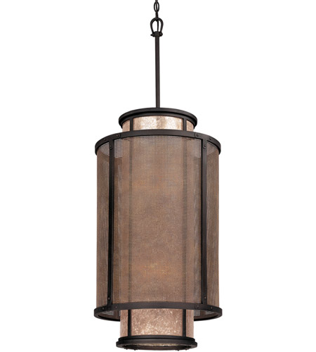 Troy Lighting F3103 Copper Mountain 8 Light 18 Inch Bronze Pendant Entry Ceiling