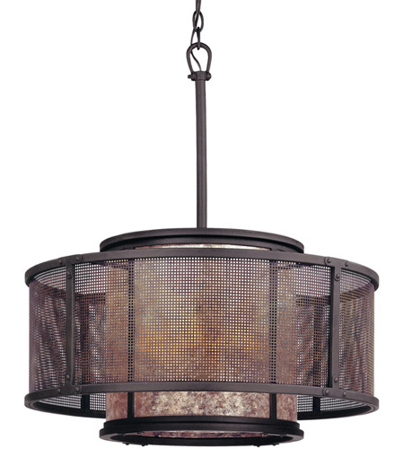 Troy Lighting F3105 Copper Mountain 6 Light 26 Inch Bronze Pendant Dining Ceiling