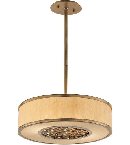Troy Lighting F3155 Serengeti 2 Light 18 inch Bronze Leaf Pendant Ceiling Light in Incandescent photo