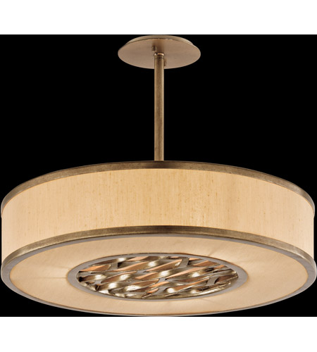 Troy Lighting F3156 Serengeti 3 Light 24 inch Bronze Leaf Pendant Ceiling Light in Incandescent photo