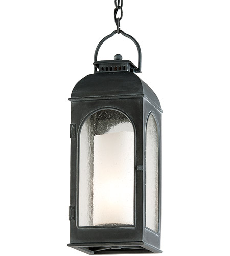 Troy Lighting F3287 Derby 1 Light 8 inch Antique Iron Outdoor Hanging Lantern in Incandescent photo