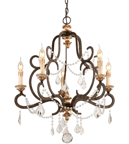 Troy Lighting F3515 Bordeaux 5 Light 28 inch Parisian Bronze Chandelier Ceiling Light  photo
