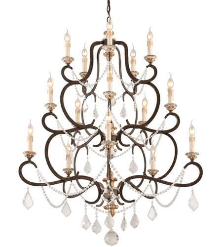 Troy Lighting F3517 Bordeaux 15 Light 43 inch Parisian Bronze Chandelier Ceiling Light photo