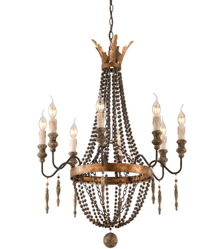 Troy Lighting F3535 Delacroix 8 Light 25 inch French Bronze Chandelier Ceiling Light photo