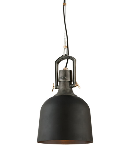 Troy Lighting F3545 Hanger 31 1 Light 12 inch Old Silver With Aged Brass Accents Pendant Ceiling Light photo