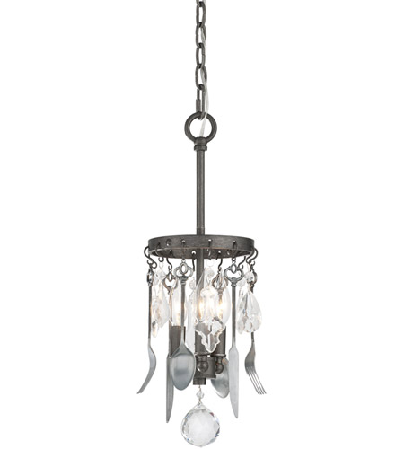 Troy Lighting F3803 Bistro 3 Light 7 inch Graphite Mini-Pendant Ceiling Light photo