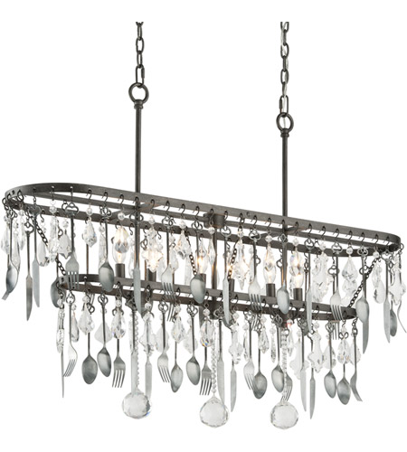 Troy Lighting F3804 Bistro 6 Light 42 inch Graphite Island Ceiling Light photo