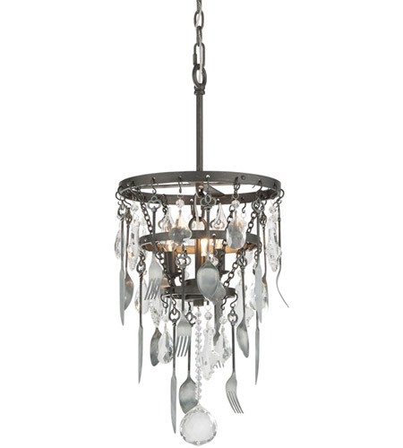 Troy Lighting F3805 Bistro 3 Light 13 inch Graphite Pendant Ceiling Light photo