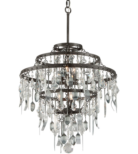 Troy lighting f3807 bistro 6 light 25 inch graphite with antique troy lighting f3807 bistro 6 light 25 inch graphite with antique pewter chandelier ceiling light aloadofball Images