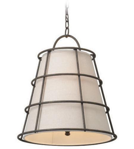 Troy Lighting F3903 Habitat 3 Light 18 Inch Liberty Rust Pendant Ceiling