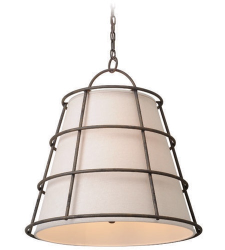 Troy Lighting F3904 Habitat 4 Light 24 Inch Liberty Rust Pendant Ceiling