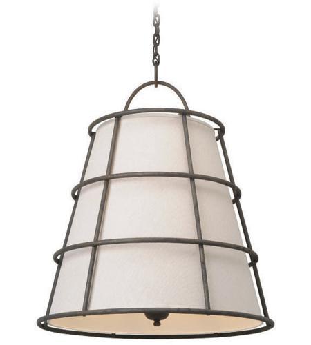 troy lighting f3906 habitat 6 light 30 inch liberty rust pendant