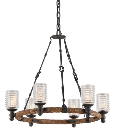 Troy Lighting F4155 Embarcadero 6 Light 25 inch Chandelier Ceiling Light photo