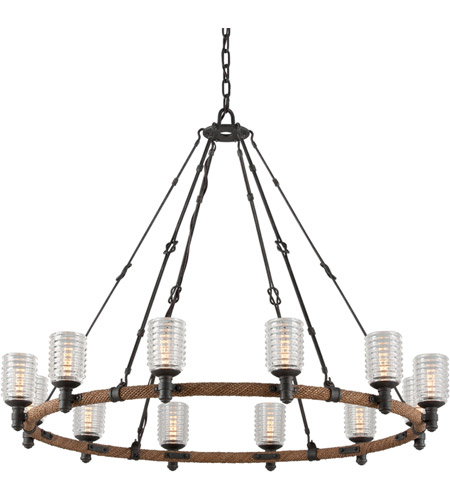 Troy Lighting F4157 Embarcadero 12 Light 42 inch Chandelier Ceiling Light photo