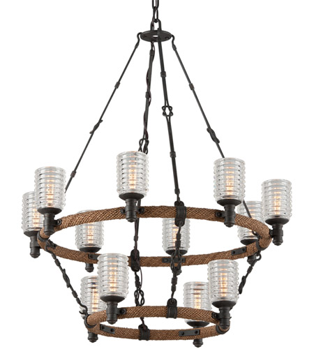 Troy Lighting F4158 Embarcadero 12 Light 30 inch Chandelier Ceiling Light photo