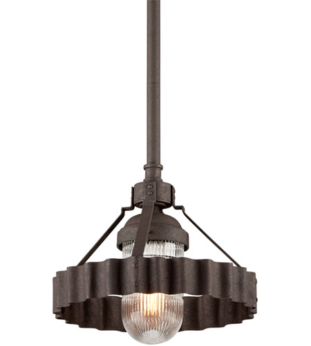 Troy Lighting F4244 Canary Wharf 1 Light 14 inch Burnt Sienna Pendant Ceiling Light photo thumbnail