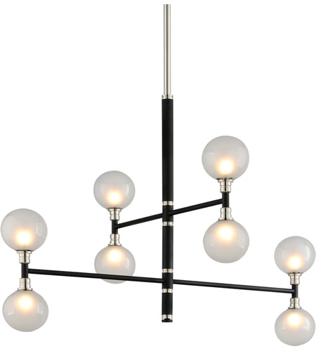 Troy Lighting F4825 Andromeda 8 Light 42 inch Carbide Black and Polished Nickel Pendant Ceiling Light photo