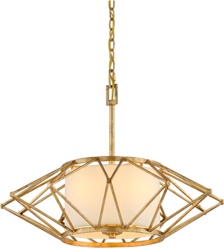 Troy Lighting F4864 Calliope 4 Light 26 inch Rustic Gold Leaf Pendant Ceiling Light photo