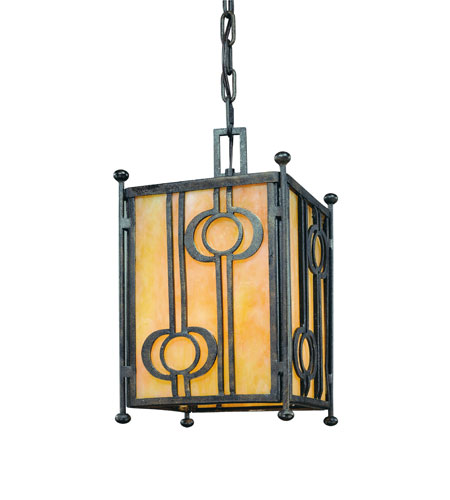 Troy Lighting Aberdeen 1 Light Outdoor Hanging Lantern in Fired Iron F5037FI photo