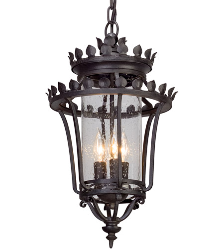 Troy Lighting F5137 Greystone 3 Light 12 inch Forged Iron Outdoor Pendant photo