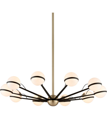 Troy Lighting F5306 Ace 50 inch Textured Bronze and Brushed Brass Chandelier Ceiling Light  photo
