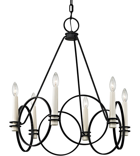 Troy Lighting F5956 Juliette 6 Light 26 inch Country Iron Chandelier Ceiling Light photo