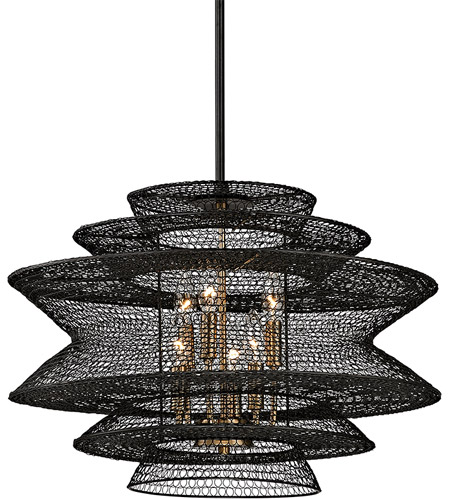 Troy Lighting F6016 Kokoro 6 Light 23 inch Kokoro Bronze Pendant Ceiling Light  photo