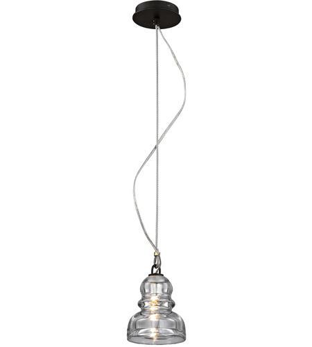 Troy Lighting F6052 Menlo Park 1 Light 6 Inch Deep Bronze Mini Pendant Ceiling Historic Clear Pressed Gl
