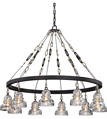 troy lighting f6057 menlo park 10 light 43 inch deep bronze