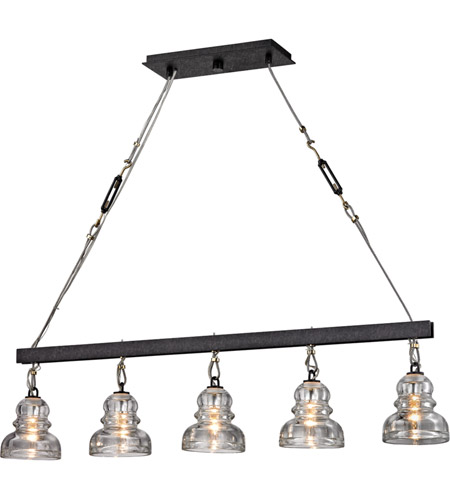 troy lighting f6058 menlo park 5 light 45 inch deep bronze