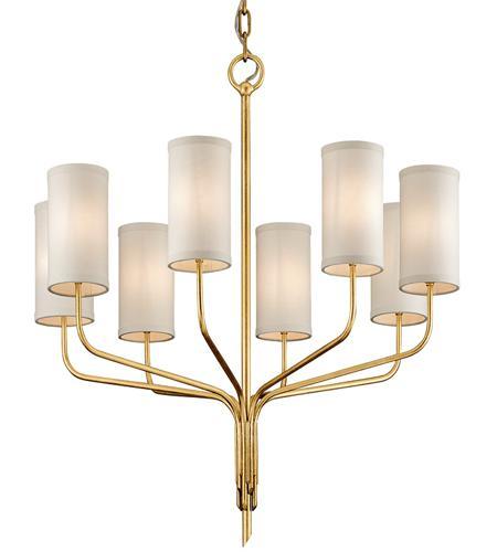 Troy Lighting F6168 Juniper 8 Light 32 Inch Textured Gold Leaf Chandelier Ceiling