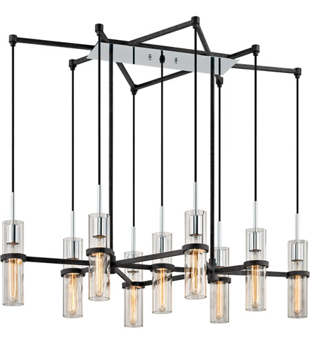 Troy Lighting F6199 Xavier 9 Light 44 inch Vintage Iron Linear Pendant Ceiling Light photo