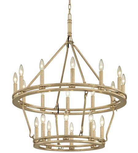 Troy Lighting F6248 Sutton 20 Light 32 Inch Champagne Silver Leaf Chandelier Ceiling