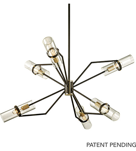 Troy Lighting F6316 Raef 6 Light 36 inch Textured Bronze with Brushed Brass Chandelier Ceiling Light photo