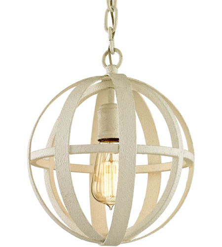 Troy Lighting F6551 Flatiron 1 Light 10 inch Gesso White Pendant Ceiling Light photo