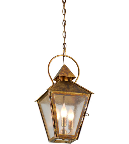 Troy Lighting F6587HBZ Allston 3 Light 10 inch Historic Brass Outdoor Pendant photo